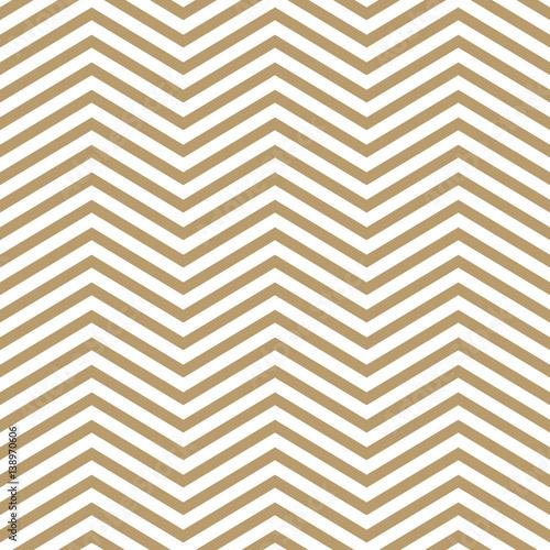 Elegant beige and white chevron, seamless vector pattern - 138970606