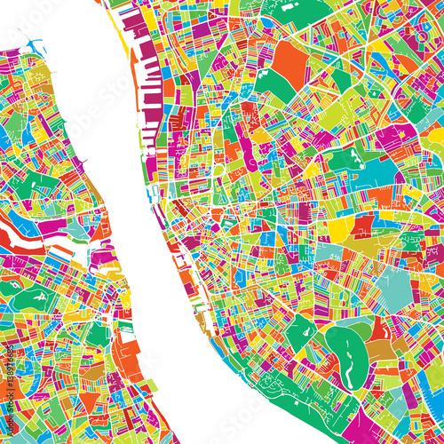 Liverpool Colorful Vector Map