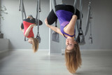 Women workout yoga Hammocks