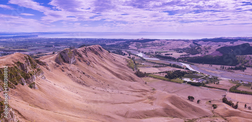 Fotobehang Purper View from Te Mata Peak, Looking Toward Hawke's Bay - Napier, New Zealand
