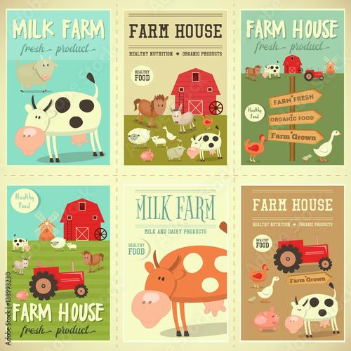 Foto op Canvas Boerderij Farm House Posters