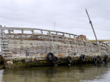 Boat cemetery in Port Stanley, Falkland Islands / Malvinas