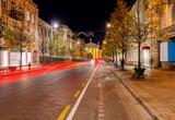 Vilnius. Night Street.