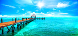 Exotic Caribbean paradise. Travel, tourism or vacations concept. Tropical beach resort - 138995804