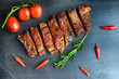 steak and vegetables - 138997461