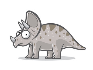 Cartoon Funny Triceratops