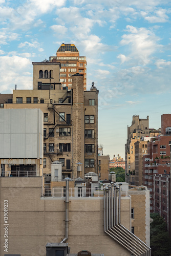 Foto op Plexiglas New York Daytime view of Manhattan cityscape.