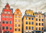 Buildings on Big Square (Stortorget) in the Old Town (Gamla Stan) of Stockholm, Sweden