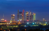 Skyscrapers of Moscow City at night