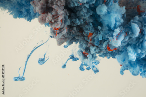 Abstract Paint in Water Background