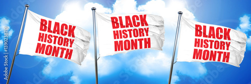 black history month, 3D rendering, triple flags
