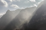 chinese mountain silhouette