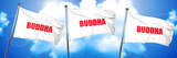 buddha, 3D rendering, triple flags