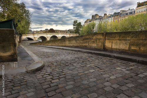 Cobblestone ramp to Seine River, Paris Photo by BRUCE