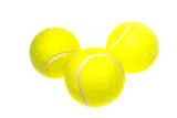 tennis balls on a white background