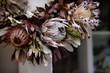 A Dried Wreath of Exotic Hawaiian Protea Flowers on the Island of Maui, Hawaii