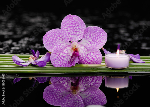 Poster Spa Still life with orchid and candle