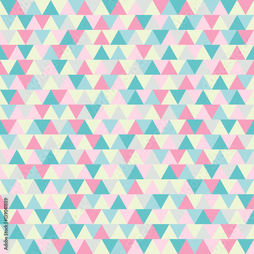 Abstract triangle vector pattern. Pink and blue polygonal winter background - 139041889