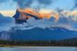 Mount Rundle at Vermillion Lake, Banff, Alberta