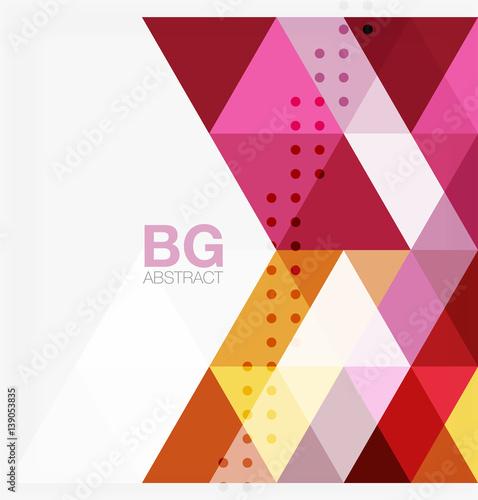 Foto op Canvas Bloemen vrouw Modern geometry background
