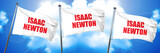 isaac newton, 3D rendering, triple flags