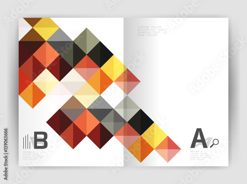 Foto op Canvas Bloemen vrouw Vector square minimalistic abstract background, print template business brochure a4