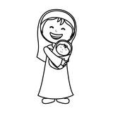 virgin mary manger character vector illustration design - 139065461