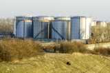 Vienna, oil harbour Lobau, tank farm, Austria, Lower Austria, Vi