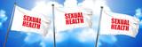 sexual health, 3D rendering, triple flags - 139078648