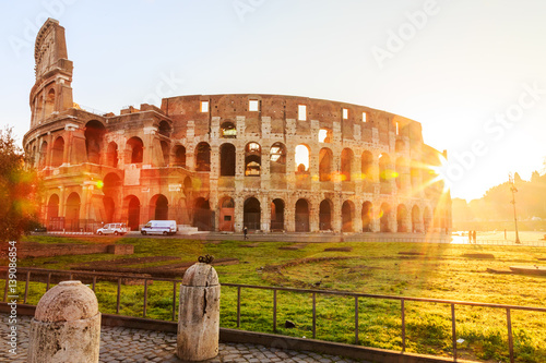 Poster Colosseum, Rome, morning sun, Italy, Europe