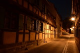 Night view in the historical town of Bamberg, Bavaria, region Upper Franconia, Germany