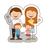 happy family members icon vector illustration design