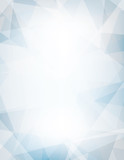 Light blue and gray background textured by chaotic triangles - 139117282
