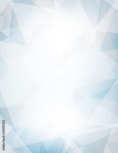 Jasnoniebieskie i szare tło teksturowane przez chaotyczne trójkąty