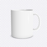 Fototapety Realistic white cup isolated on transparent background