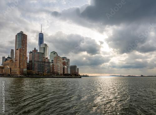 Poster Lower Manhattan Skyline view from Pier 25 - New York, USA