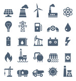 Power Industry Flat Black Icons - illustration - 139144282