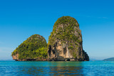 Tropical Island in a sunny day in front of Pranang beach, Krabi province, Thailand