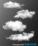 Fototapety Transparent set of cloud vectors
