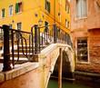 Small bridge in Venice, Itali