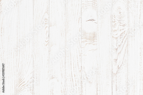canvas print picture white wood texture background, wooden table top view