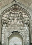 Traditional stalactite decoration of a mosque ceiling, Uzbekistan