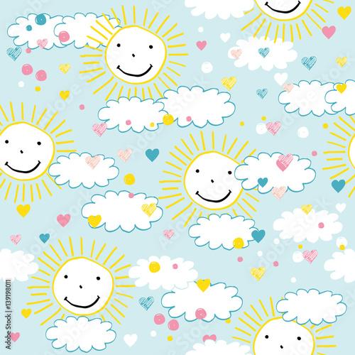 Fototapeta Children's pattern