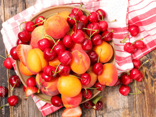 cherry,apricot and peach