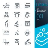 Lineo - Cleaning and Housework line icons