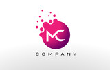 MC Letter Dots Logo Design with Creative Trendy Bubbles. - 139221609