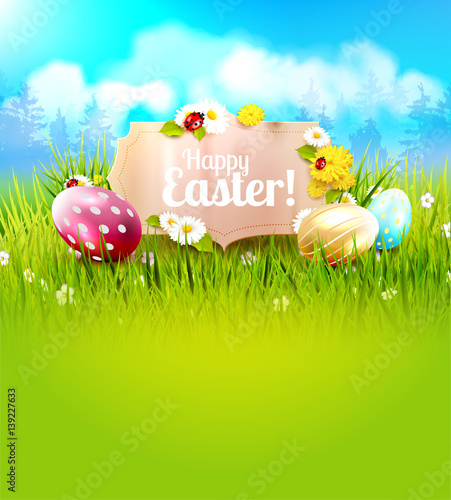 Fotobehang Lime groen Cute Easter background