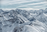 view from the Nebelhorn mountain, Bavarian Alps, Oberstdorf, Germany
