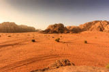 Sunrise over the desert of Wadi Rum, Jordan