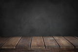 Black Background with wooden table - 139245220